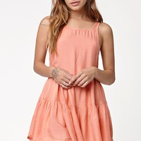 Roxy June Bloom Ruffle Tier Dress - Womens Dress - Pink - Extra Small
