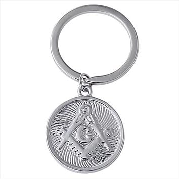 Double Sides Metal Masonic Keychain