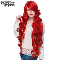 """Cosplay Wigs USA™  Curly 90cm/36"""" - True Red -00335"""