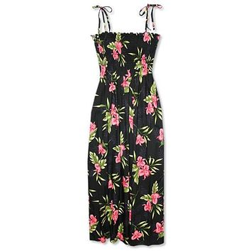 midnight hawaiian maxi dress