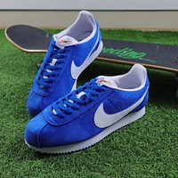 Sale Nike Classic Cortez Suede Blue Sport Running Shoes 532487-403