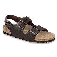 Men's Milano Sandal in Habana Oiled Leather with Soft Footbed by Birkenstock