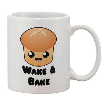 Wake and Bake Cute Roll Printed 11oz Coffee Mug