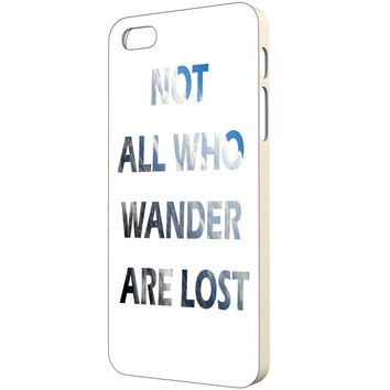 Quote iPhone Case - FREE Shipping to USA not all who wander are lost typography minimalist iphone cases wanderlust blue white for men