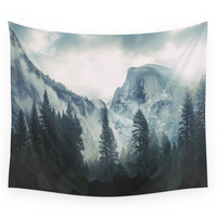 Society6 Cross Mountains Wall Tapestry