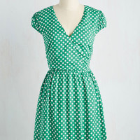 Let It Roller Skate Dress in Green