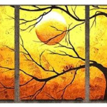 Tree Silhouette Canvas Wall Art
