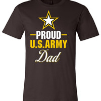 Proud US Army Dad Canvas Unisex T-Shirt