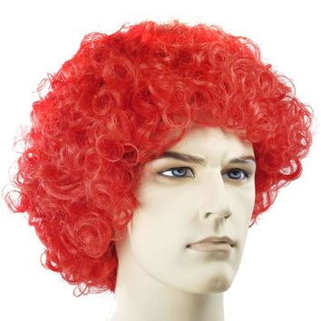 Curly Clown Fd Hot Pink women's wig for Halloween