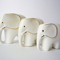 Collection of 3 Vintage Elephant Figurines