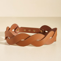 Get In Touch With Your Helix Belt in Chocolate | Mod Retro Vintage Belts | ModCloth.com
