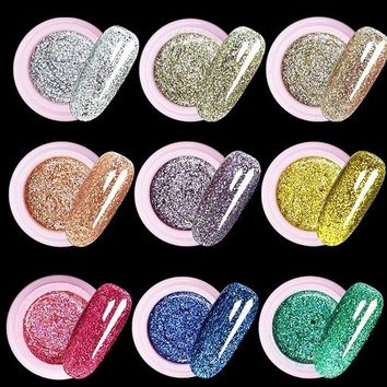 Flash powder Glitter UV Nail Gel Acrylic Polish styling nail tools makeup gel nails polish nail art M670
