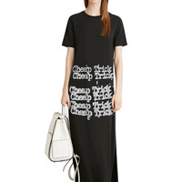 Cheap Trick Typewriter Graphic Maxi T-Shirt Dress