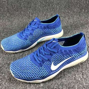 NIKE AIR ZOOM FEARLESS FLYKNIT Comfortable Fashion Training Sneakers F-CSXY blue