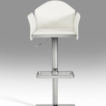 Modrest 5108 Modern White Eco-Leather Bar Stool
