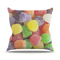 "Libertad Leal ""I Want Gum Drops"" Outdoor Throw Pillow"