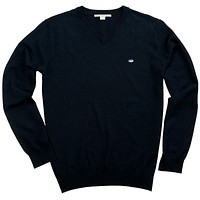 1/4 Zip Merino Pullover in Night Sky Navy by Southern Tide