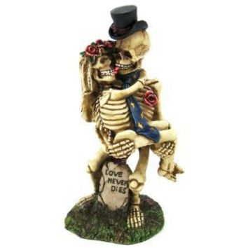 Skulls - Love Never Dies - Collectible Statue Figurine Figure Skeleton