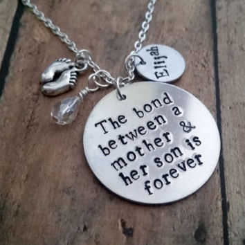 The bond between a mother and her son is forever - Necklace/Key Chain-Jewelry