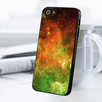 Galaxy Nebula Green iPhone 5 Or 5S Case