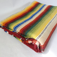 mexican blanket vintage camping southwest boho decor