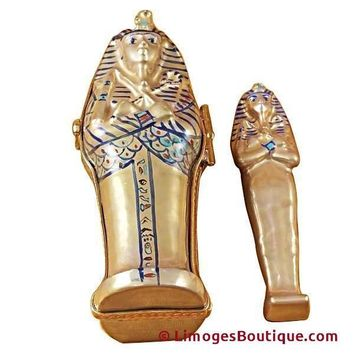 Sarcophagus Egyptian Mummy LIMOGES BOXES