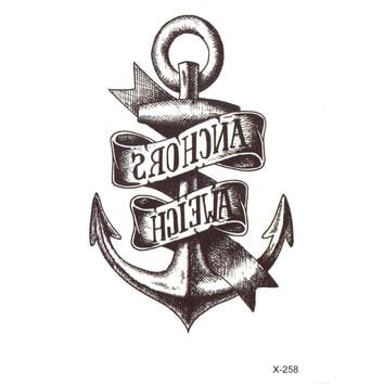 Anchor temporary tattoo sticker  tatuajes temporales Tatouage temporaire fake kids tattoo tatoos Taty gold tattoo henna xha
