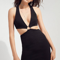 Silence + Noise Vivian Cutout Ponte Mini Dress | Urban Outfitters