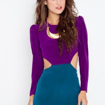 Silk Cutout Dress in  What's New at Nasty Gal