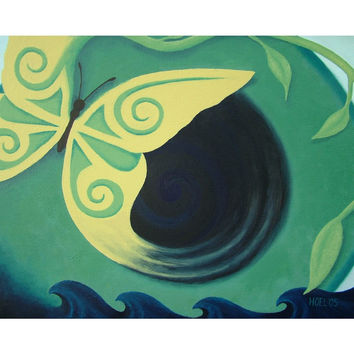 Transcendence - Professional Prints of Acrylic Paint Butterfly Fine Art