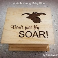 Baby mine music box, inspirational gift, last minute gift, going away gift, music box by Simplycoolgifts