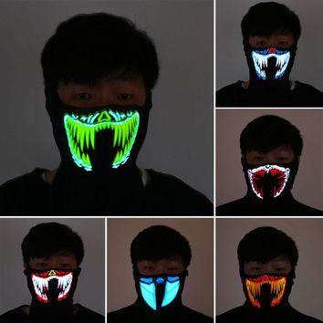 Luminous LED Breathable Half Face Mask (23 Patterns)
