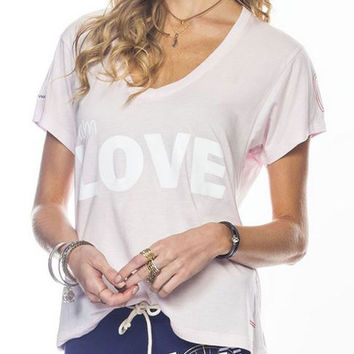 Peace Love World I am Love Ballerina L2L Light V-Neck Tee