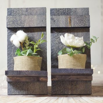 Nautical Pallet Wall Sconce Set of two, Beach House Decor