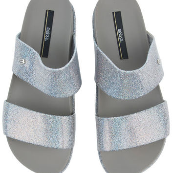 The Melissa Cosmic Sandal in Silver