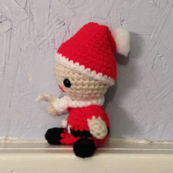 Baby Santa - Crocheted Doll -  Amigurumi