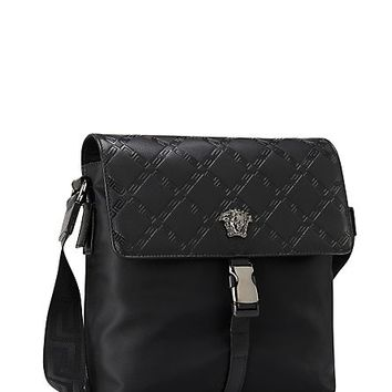 Versace - Greca Leather Side bag