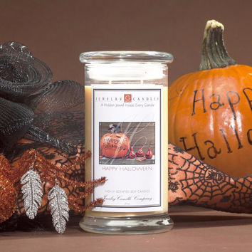 Happy Halloween Jewelry Greeting Candles