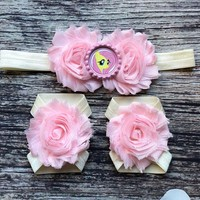 Fluttershy Headband and Barefoot Sandals Set