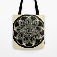 Antique Spiral Geometry Tote Bag by Blue Specs Studio