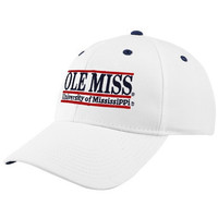 The Game Mississippi Rebels White 3-Bar Nickname Adjustable Hat