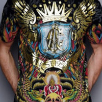 A222 2013 casual funny autumn summer brand name ed hardy men's t-shirt,t shirt men desigual free shipping holiday sale tattoo