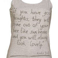 Ladies Roald Dahl Good Thoughts Vest : TruffleShuffle.com