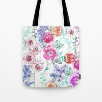 Pastel Rose Garden 02 Tote Bag by Holly Sharpe