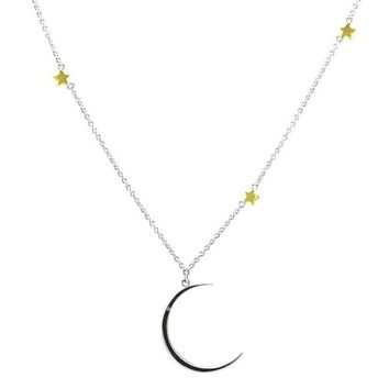 Cheryl Moon  and Star Two-Tone Fashion Pendant