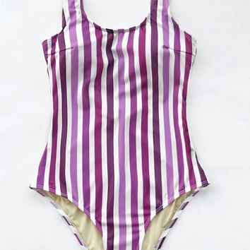 Cupshe Envy You Stripe One-piece Swimsuit
