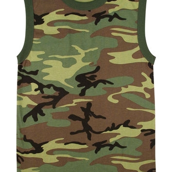 Woodland Camo Muscle Shirt