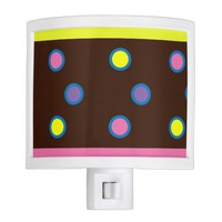Lovely multicolor polka dots night light