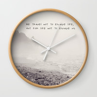 we travel Wall Clock by Sylvia Cook Photography
