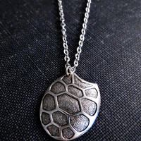 Turtle Shell Necklace - Silver
